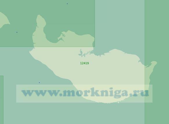 12419 Остров Новая Сибирь и Благовещенский пролив (Масштаб 1:200 000)