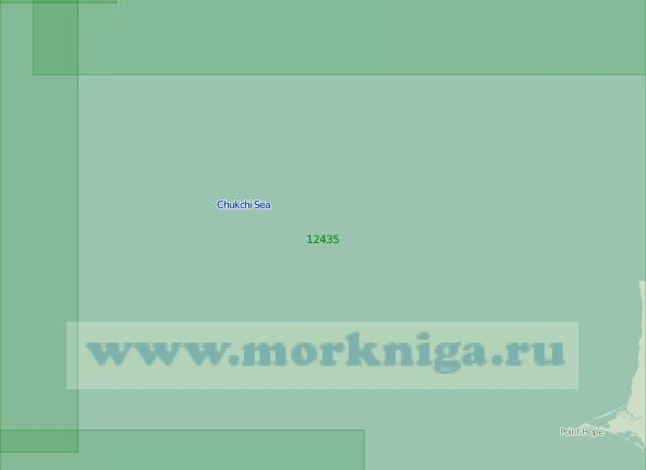12435 Район к северо-западу от мыса Головнина (Хоп) (Масштаб 1:200 000)