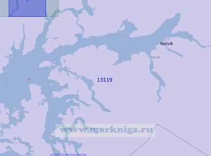 13119 Восточная часть залива Вест-фьорд (Масштаб 1:100 000)