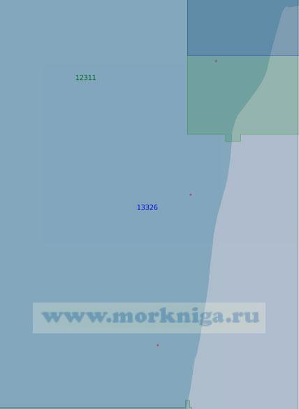 13326 От устья реки Хардеяха (Седая) до мыса Скуратова (Масштаб 1:100 000)