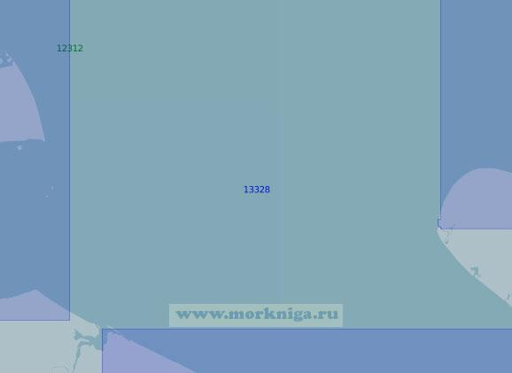 13328 От острова Белый до острова Шокальского (Масштаб 1:100 000)