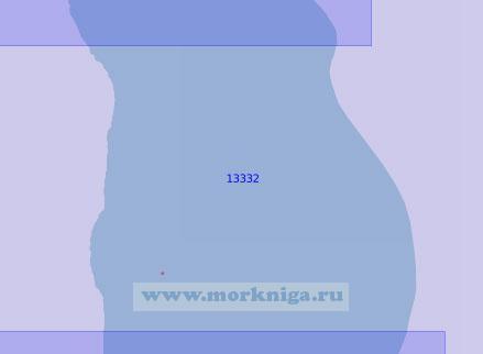 13332 От банок Вилькицкого (Северных) до светящего знака Янтосё (Масштаб 1:100 000)