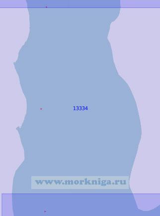 13334 От мыса Лебединый до мыса Трехбугорный (Масштаб 1:100 000)