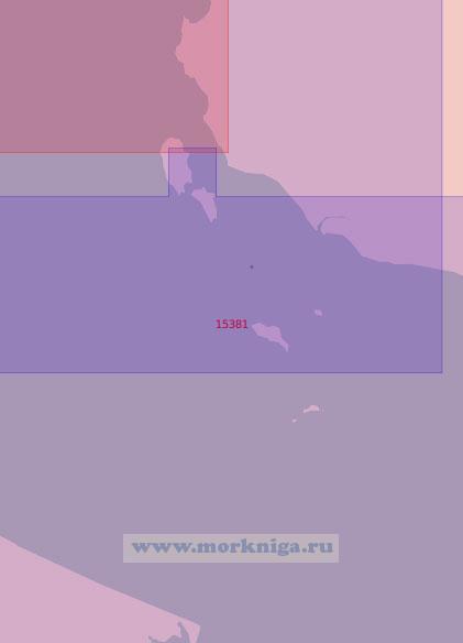15381 Проливы Крестовский и Москва с подходами (Масштаб 1:50 000)