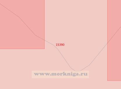 15390 От мыса Казанцевский до острова Никитинский (Масштаб 1:50 000)