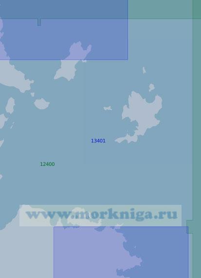13401 От мыса Прончищева до островов Фаддея с островами Комсомольской Правды (Масштаб 1:100 000)