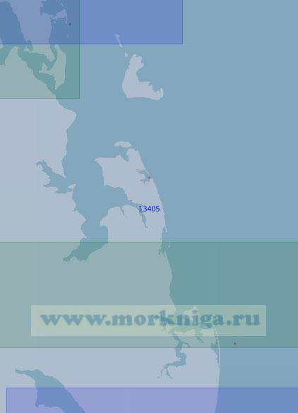 13405 От островов Петра до острова Псов (Масштаб 1:100 000)