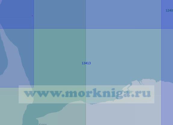 13413 От полуострова Нордвик до мыса Лыгый (Масштаб 1:100 000)