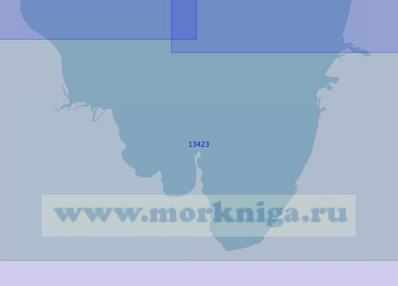 13423 Южная часть губы Буор-Хая (Масштаб 1:100 000)