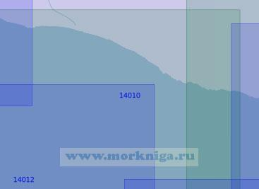 14010 От селения Тетрино до мыса Толстик (Масштаб 1:100 000)