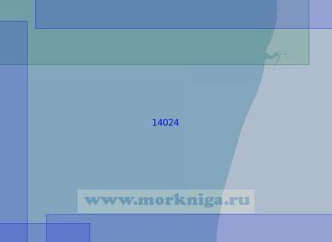 14024 От мыса Толстик (Конушинский) до устья реки Кия (Масштаб 1:100 000)