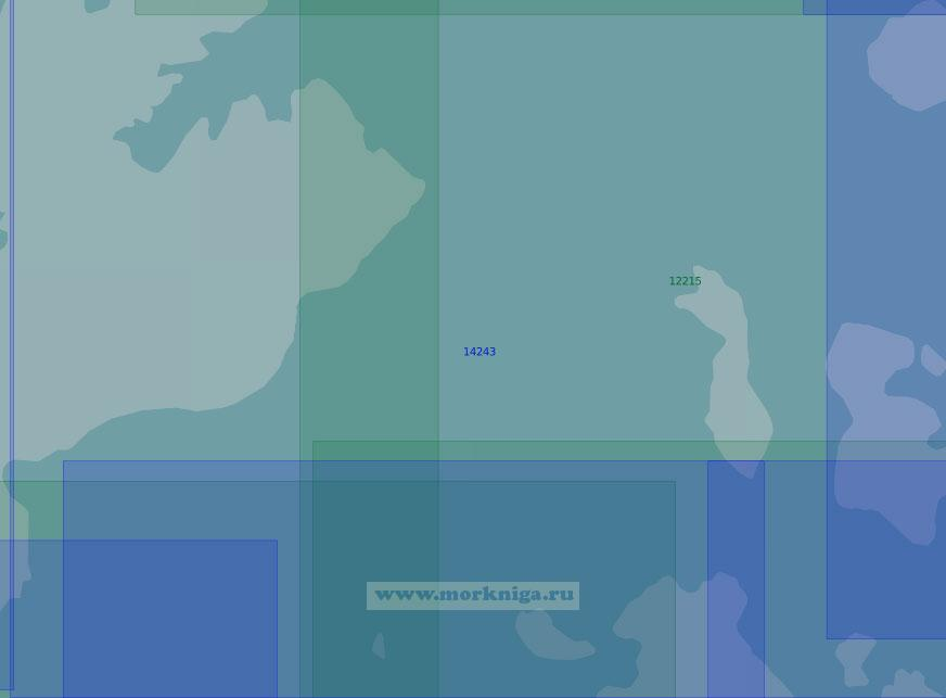 14243 Южная часть пролива Британский Канал (Масштаб 1:100 000)