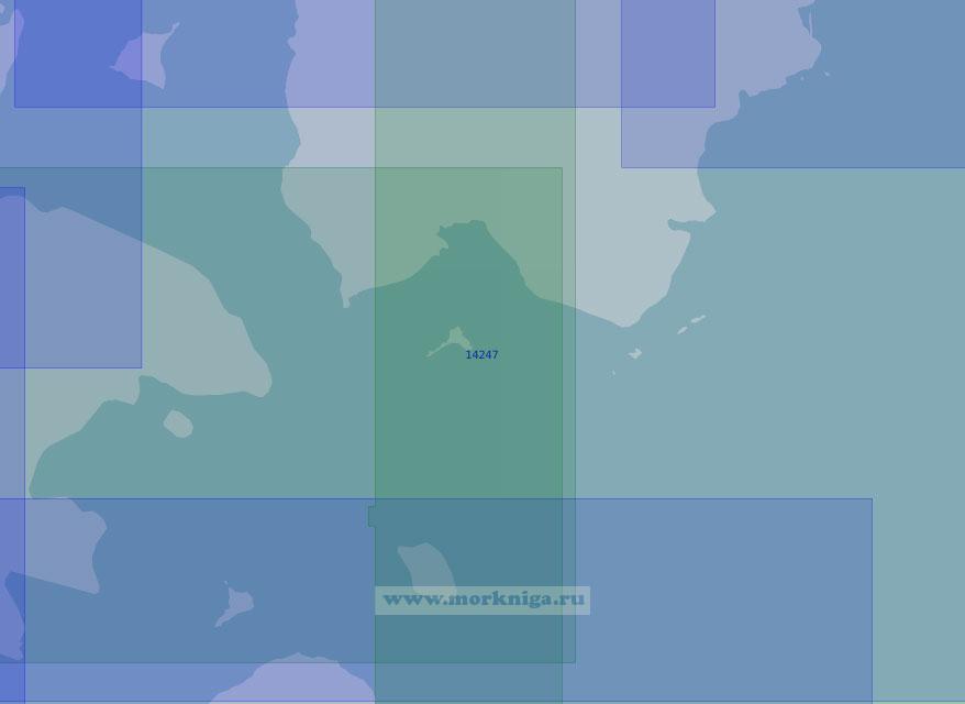 14247 Южная часть Австрийского пролива с подходами (Масштаб 1:100 000)