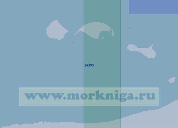 14300 От бухты Аварийная до острова Моржово с островами Каменные (Масштаб 1:100 000)