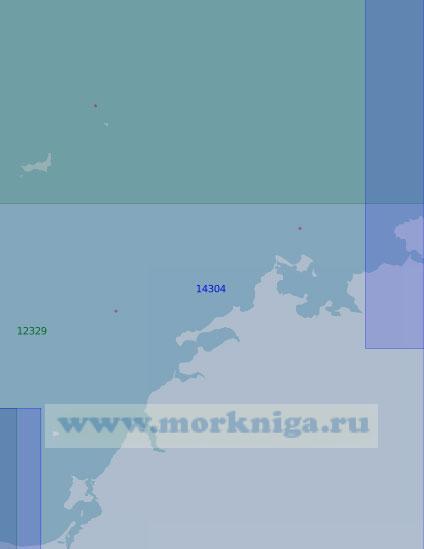14304 От острова Маркема до островов Каминского (Масштаб 1:100 000)