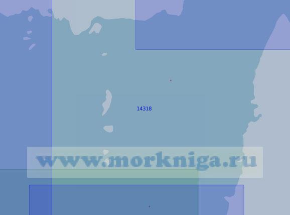 14318 Южная часть пролива Шокальского с островами Краснофлотские (Масштаб 1:100 000)
