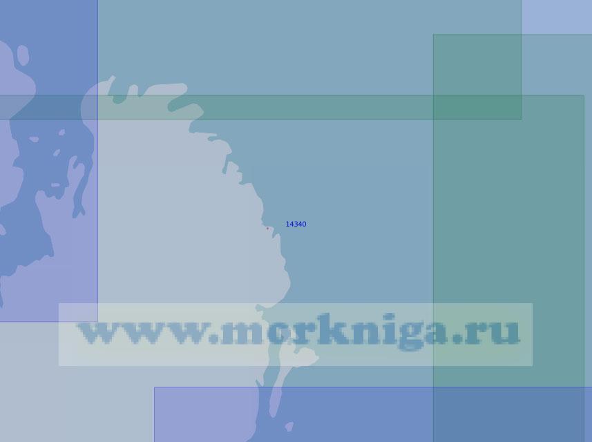 14340 От фьорда Матусевича до острова Найденыш (Масштаб 1:100 000)
