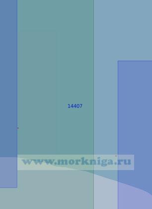 14407 От устья реки Сергеева до устья реки Гальгаваам (Масштаб 1:100 000)