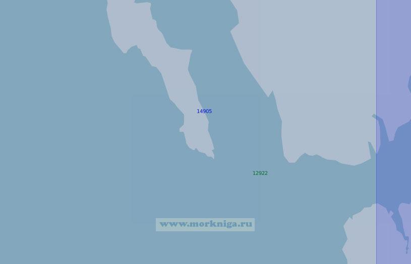 14905 От залива Ис-фьорд до Земли Принца Карла (Масштаб 1:100 000)