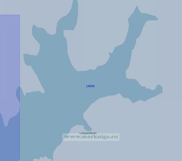 14906 Залив Ис-фьорд (Масштаб 1:100 000)