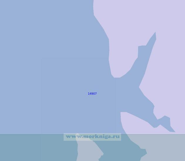 14907 От Земли Принца Карла до бухты Кведфьордбукта (Масштаб 1:100 000)