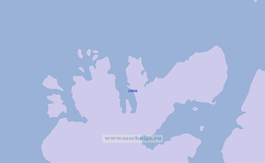 14908 От бухты Кведфьордбукта до мыса Грохукен (Масштаб 1:100 000)