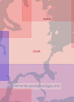 15156 От Харстада до Рамсунна (Масштаб 1:50 000)