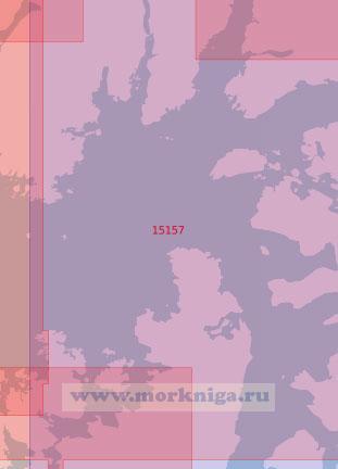 15157 Восточная часть залива Вест - фьорд. От пролива Хьелльсуннет до полуострова Хамарёй (Масштаб 1: 50 000)