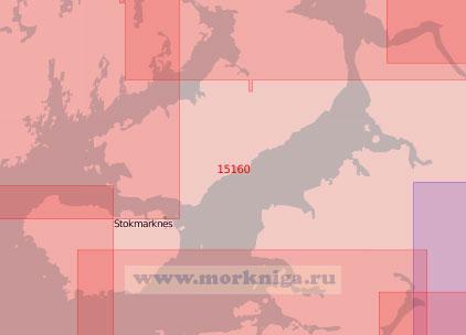 15160 От пролива Вестеролс-фьорд до пролива Сортланнсуннет с Эйдс-фьордом (Масштаб 1:50 000)
