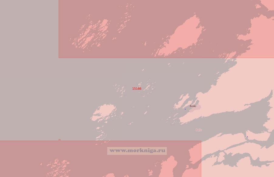 15166 Подходы к порту Буде (Масштаб 1:50 000)