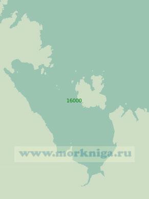 16000 Лумбовский залив (Масштаб 1:25 000)