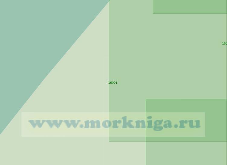 16001 Западная часть Никольского рукава (Масштаб 1:25 000)