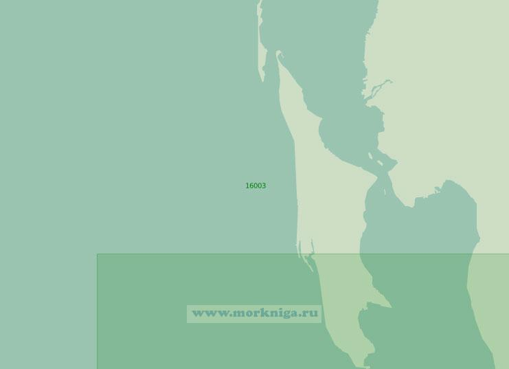 16003 От острова Голая Кошка до мыса Южный (Масштаб 1:25 000)
