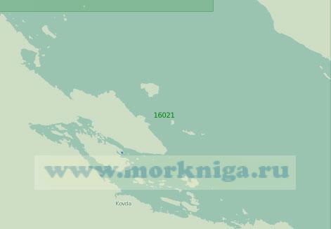 16021 Губа Ковда с подходами (Масштаб 1:25 000)