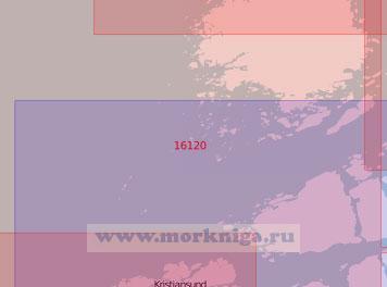 16120 Северные подходы к порту Кристиансунн (Масштаб 1:50 000)