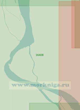 16408 Протока Походская. Подходы к поселку Походск (Масштаб 1: 25 000)