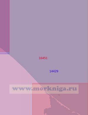 16451 Подходы к косе Двух Пилотов (Масштаб 1:50 000)