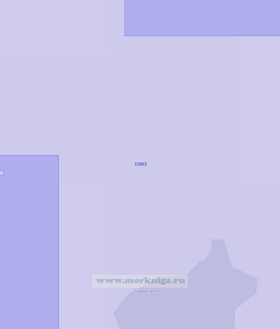 17053 От губы Питькова до мыса Шавор с губой Ваенга (Масштаб 1:10 000)