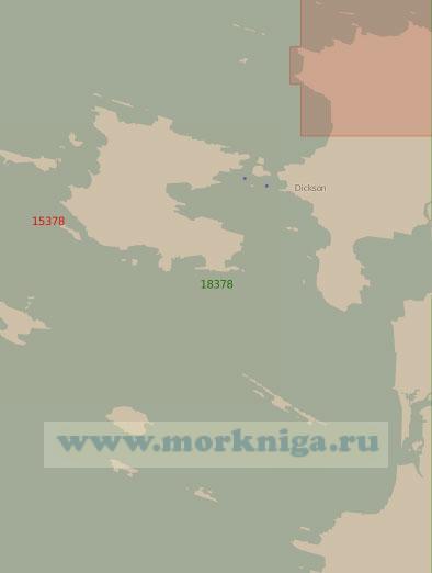 18378 Подходы к порту Диксон (Масштаб 1:25 000)