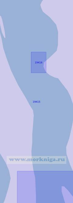 19415 Подходы к поселку Петушки и Абросимовский перекат (Масштаб 1:10 000)