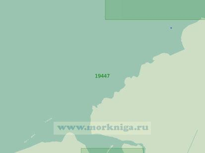 19447 Дельта реки Чаун с подходами (Масштаб 1:25 000)