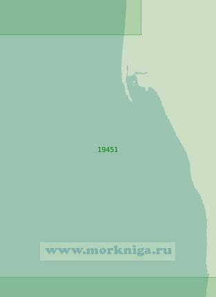 19451 От косы Млелин до реки Тэюкууль (Масштаб 1:25 000)