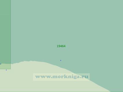 19464 От входа в лагуну Рыпильгын до светящего знака Рыпильгын (Масштаб 1:25 000)