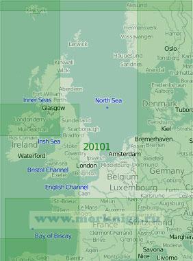 20101 Северное море и Бискайский залив (Масштаб 1:2 000 000)