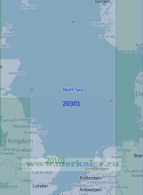 20301 Северное море (Масштаб 1:1 000 000)