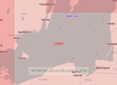 21003 Южная часть Балтийского моря (Масштаб 1:500 000)
