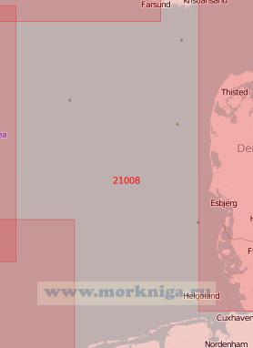 21008 От пролива Скагеррак до Западно-Фризских островов (Масштаб 1:500 000)