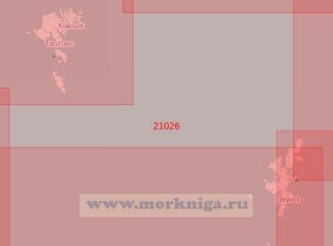 21026 От Шетландских островов до Фарерских островов (Масштаб 1:500 000)