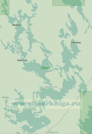 22015 Сайменская водная система. Южная часть (Масштаб 1: 200 000)