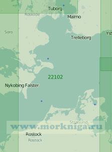 22102 От острова Рюген до Копенгагена с проходом Кадетринне (Масштаб 1:200 000)